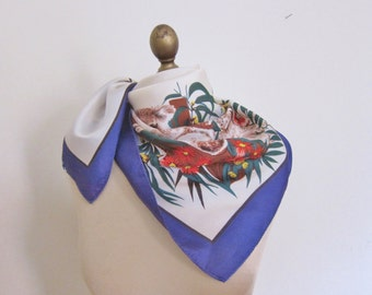 AUSTRALIAN scarf, vintage souvenir , scarf by NEIL, oz neckerchief. Ladies headscarf, square scarf, summer accessories, hair wrap