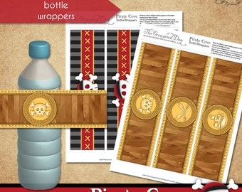 Pirate Cove Bottle Wrappers • PRINTABLE Birthday • Costume • by The Occasional Day