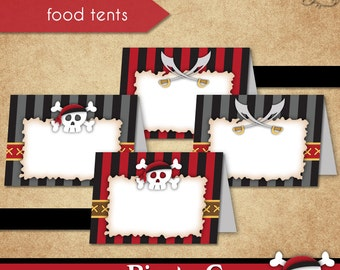 Pirate Cove Food Tents • PRINTABLE Birthday • Costume • by The Occasional Day