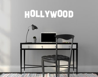 Wall Decal Custom Vinyl Art Stickers - Landmarks Hollywood Sign