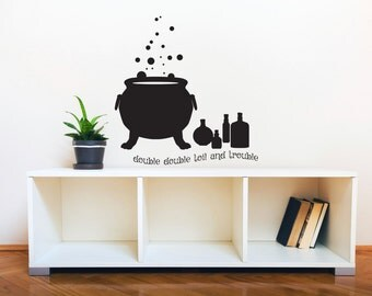 Witch Cauldron Decal Etsy - Custom vinyl halloween stickers