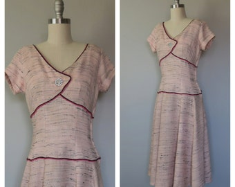 50s dress size small / vintage party dress