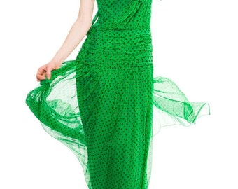 1980s Vintage Albert Nipon Silk Gown Size: S/M