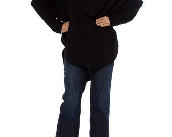 1990-1994 TAKEN ARI OTAKE Asymmetrical Wool Top  One Size