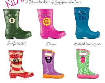 SET OF 2 - Kids Rain Boot Decals - DIY