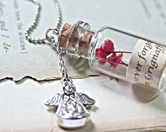 Personalised Necklace, Memorial Jewelry, Remembrance Jewelry, Miscarriage Jewelry, Baby Keepsake, Message In A Bottle Necklace, Glass Bottle