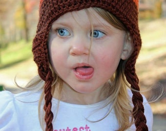 Little Owl Crochet Hat all sizes boy or gril babies and kids,