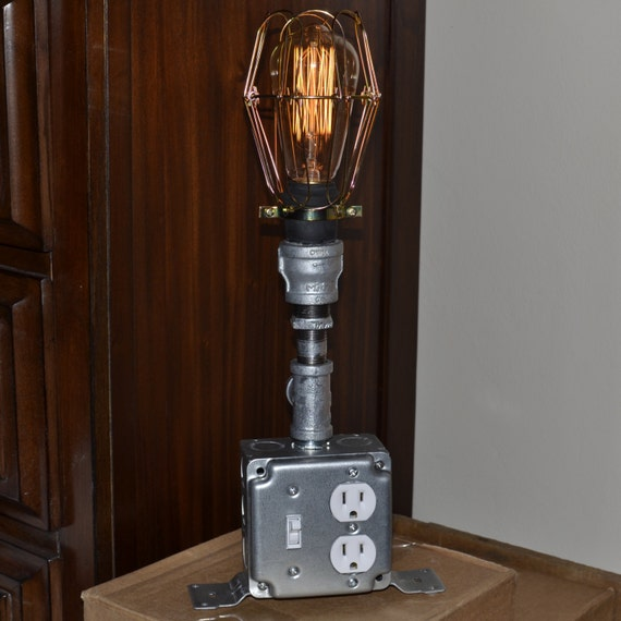 Ring In The Steampunk Decor To Pimp Up Your Home: Items Similar To Upscaled Recycled Industrial Lamp, Home