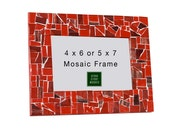 Mosaic Picture Frame in Reds