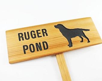 LABRADOR RETRIEVER Personalized Sign for POND, Fetching area Sign, Backyard Garden, Garden Pond, Gift for Grandpa, Dog Park