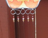 Baby Duck Windchime with Stained Glass Chimes
