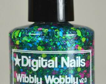 Wibbly Wobbly v2.0 : A timey wimey Doctor Who inspired glitter nail polish by Digital Nails
