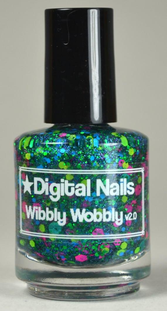 Wibbly Wobbly v2.0 : A timey wimey Doctor Who inspired glitter nail polish by Digital Nails