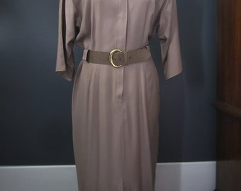 Vintage Brown Tailored Dress size 14 by Positive Influence