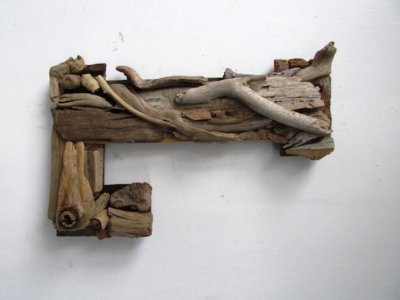 Rustic Letters Wall Decor : Large custom driftwood letters coastal home decor rustic