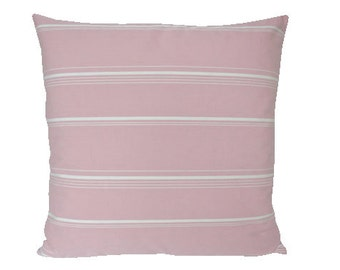 Pink Striped Decorative Pillow Cover