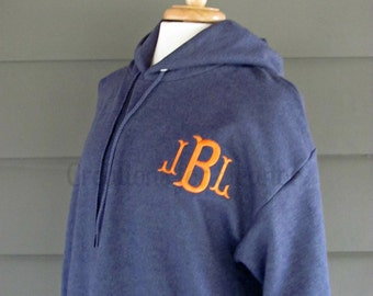 Womens Monogram Hooded Sweatshirt, Womens Monogram Pullover, Monogrammed Hoodie, Personalized Hoodie Sweatshirt, Monogram Sweatshirt