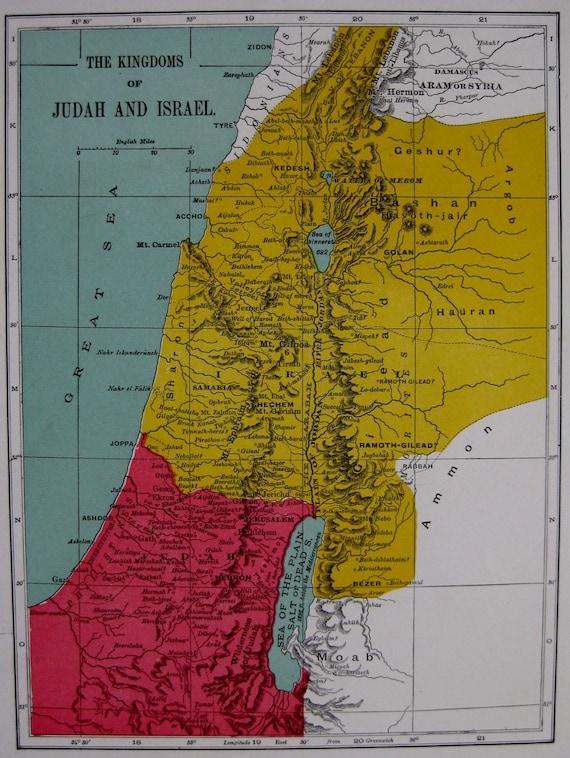 kingdom of israel and judah map pdf