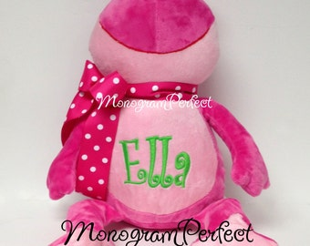 Personalized Pink Frog Stuffed Animal