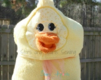 Duck Hooded Towel- Personalized