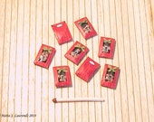 Christmas tulips - flower bulb bag - Red Paper - 1 pcs. - 1/12 Scale dollhouse miniature (GA13)