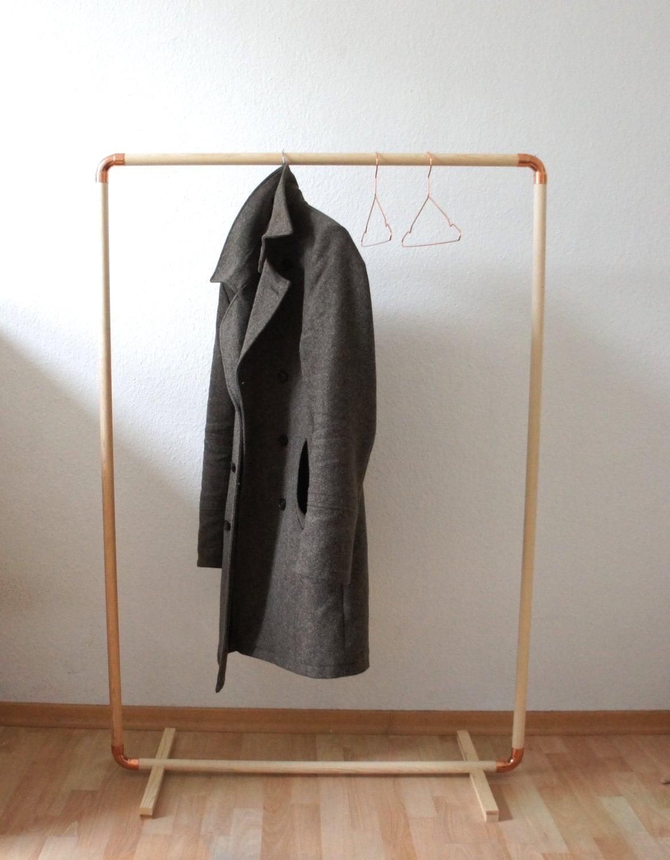 diy wood copper cloth rack. Black Bedroom Furniture Sets. Home Design Ideas