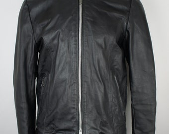 Vintage Ecxcelled Leather Cafe Racer Motorcycle Jacket size Small/36R