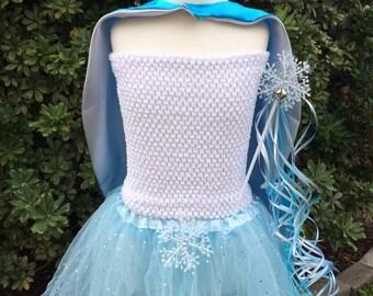 Frozen Cape, Frozen Tutu, Frozen Costume, Elsa Costume, Frozen Party, Frozen Elsa Dress, Elsa Dress, Frozen Dress, Frozen Party Favors