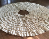 Muslin Ruffle Tree Skirt