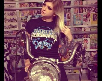 Vintage Harley-Davidsn Daytona Shirt From Original Harley Dealership FIFTY FIFTY