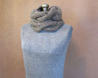 Chunky Cable Knit Cowl - The Harper - MADE TO ORDER