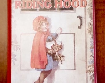 Little Red Riding Hood Book - Retold Vintage Reprint - Child Appropriate Little Red Riding Hood Story Book
