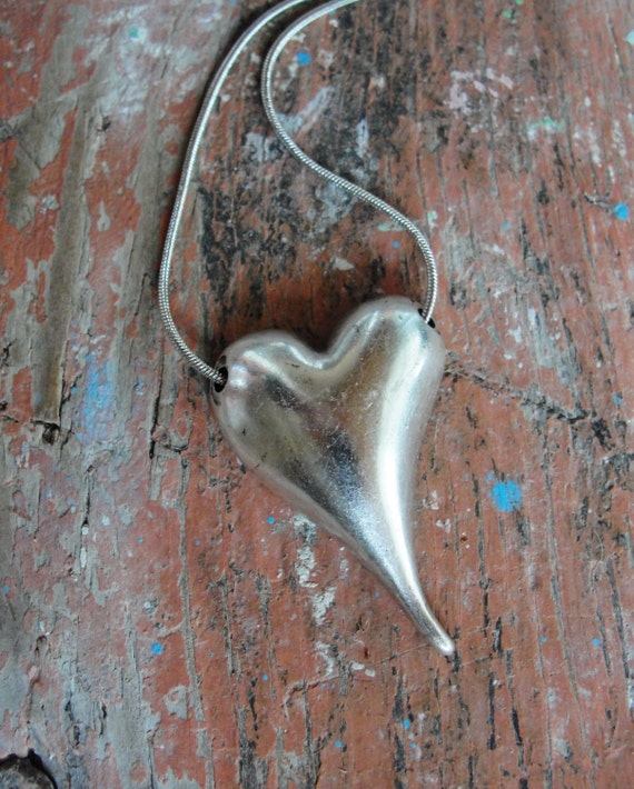 Metal Heart Necklace Valentine's Day Gift All we need is Love