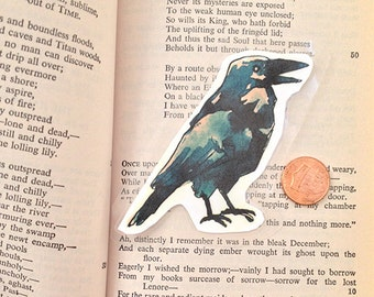 Raven Laminated Bookmark