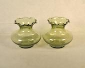 Green Bud Vase Vases Anchor Hocking Light Glass