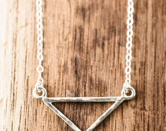 Leonani necklace - silver triangle necklace, sterling silver chevron necklace, layering necklace, strand necklace, ke aloha, maui, hawaii