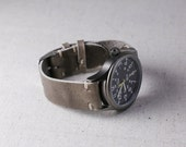 Leather Watch Strap HorweenLeather Puddle Chromexcel Watch Band Thumbnail Buckle