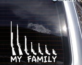 My Gun Family no. 2 Vinyl Decal - fits laptops, car windows and any smooth surface K483
