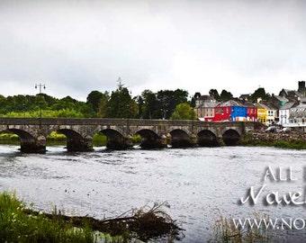 Killorglin in County Kerry City View - Bridge over River Laune Scenic Ireland Photography