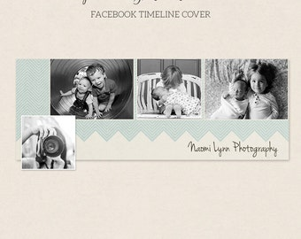 Facebook Timeline Cover - Facebook Timeline Template - PSD Template - Customize Facebook Page - Instant Download - F202