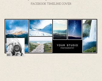 Facebook Timeline Cover - Facebook Timeline Template - PSD Template - Customize Facebook Page - Instant Download - F222