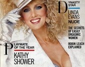 "Playboy Magazine Vintage June 1986 ""Playmate of the Year Kathy Shower!"" Centerfold Rebecca Ferratti Linda Evans GREAT Articles #23"