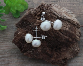 FRESHWATER Pearl Earrings Studs, freshwater pearl earrings Sterling Silver, Pearl Earrings, Stud Earrings, Freshwater Earrings Jewelry.