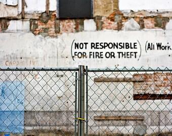 fence - fine art photography, 4x6 5x7 8x10, philadelphia philly architecture street wall urbex