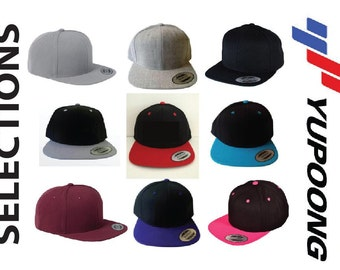 Custom Embroidery Hats Flat Bill Snapback Two-tone