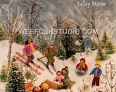 11 x 17 Poster - Felt Wee Folk: New Adventures, winter scene