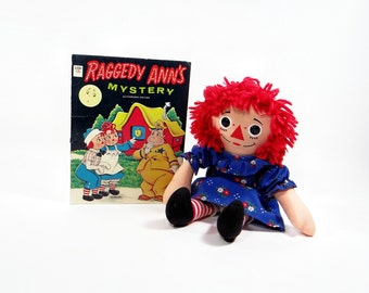 Raggedy Anns Mystery Book - 1962 Vintage Raggedy Ann And Andy Book - Childrens Book - Johnny Gruelle Book