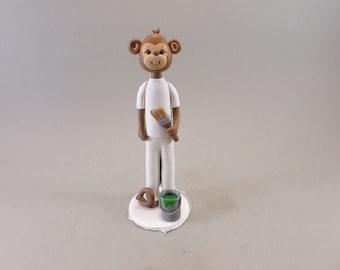 Personalized Monkey Cake Topper