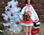 Tilda Christmas fairy doll. Handmade. Home decor. Christmas gift