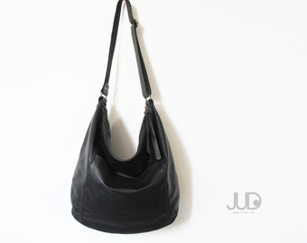 Black leather bag leather tote bag women bags SALE soft